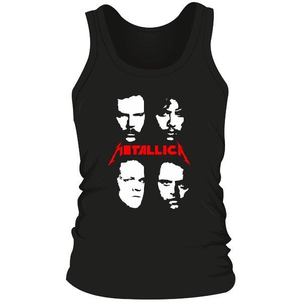 Мужская майка Metallica лица
