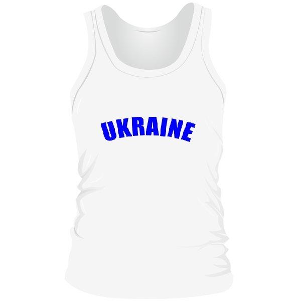 Мужская майка Надпись Ukraine