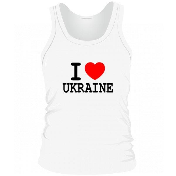 Мужская майка Я Люблю Украину