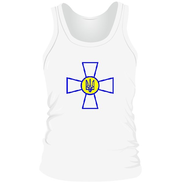 Мужская майка Военный Символ Украины
