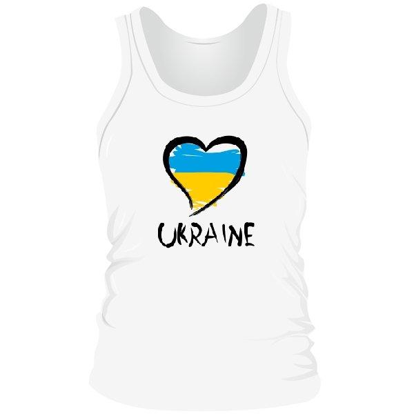 Мужская майка Сердце Ukraine