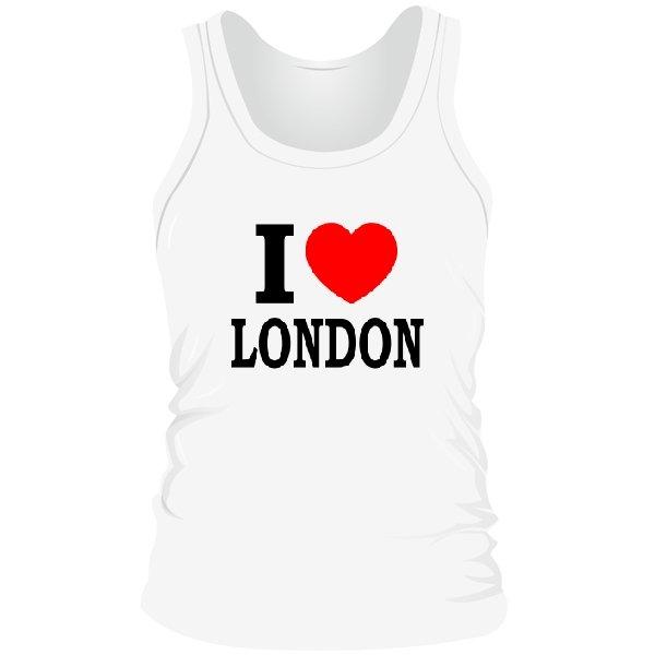 Мужская майка Я люблю Лондон