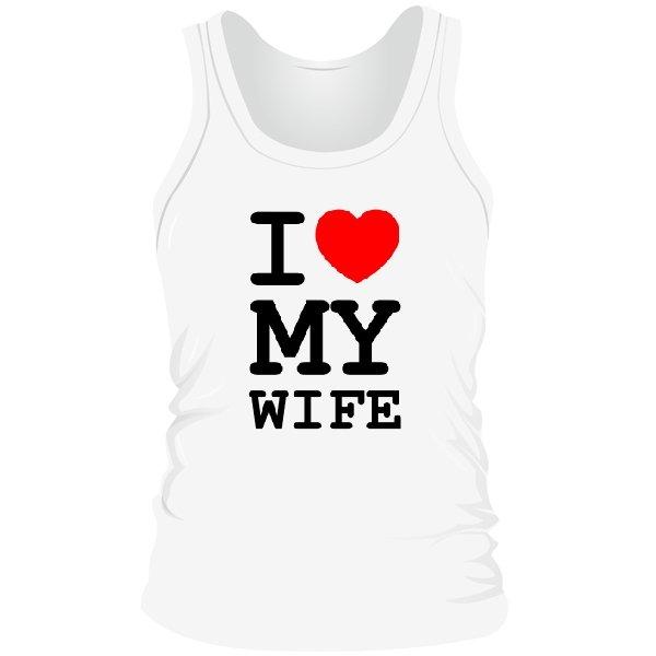 Мужская майка Люблю Свою Жену