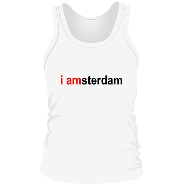Мужская майка I Amsterdam