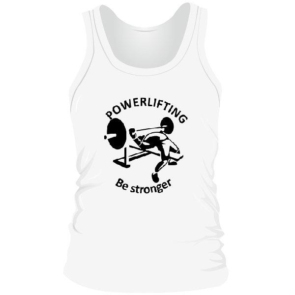 Мужская майка Powerlifting Be Stronger
