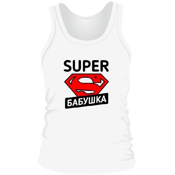 Мужская майка Super Бабушка