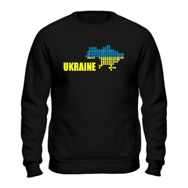 Мужской свитшот Карта Украины