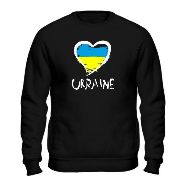 Мужской свитшот Сердце Ukraine