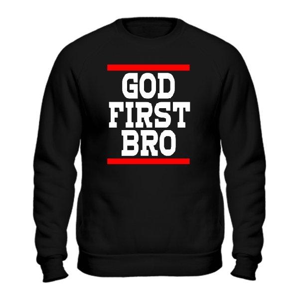 Свитшот Сначала Бог