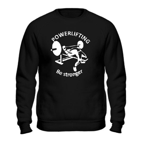 Мужской свитшот Powerlifting Be Stronger