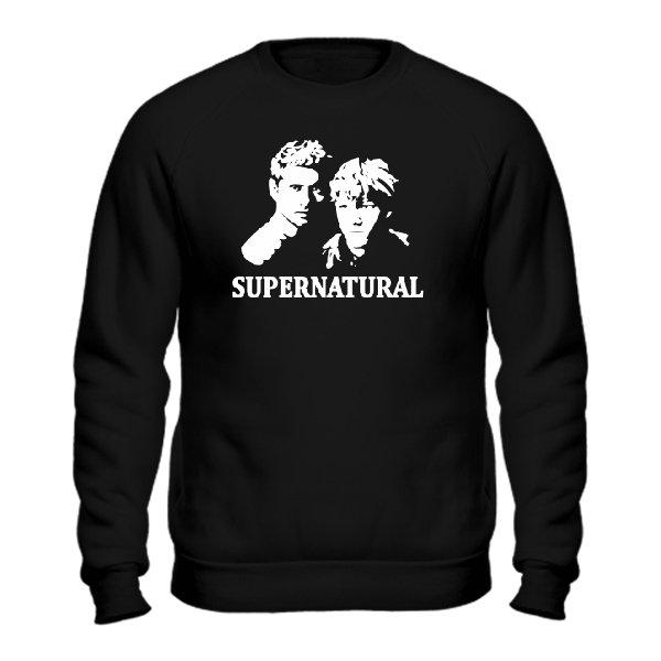 Мужской свитшот Supernatural Лица