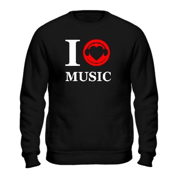 Мужской свитшот Я люблю Музыку