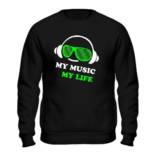 Мужской свитшот Моя Музыка - Моя Жизнь
