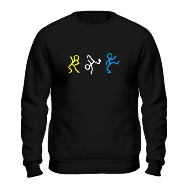 Мужской свитшот Танцующие Человечки