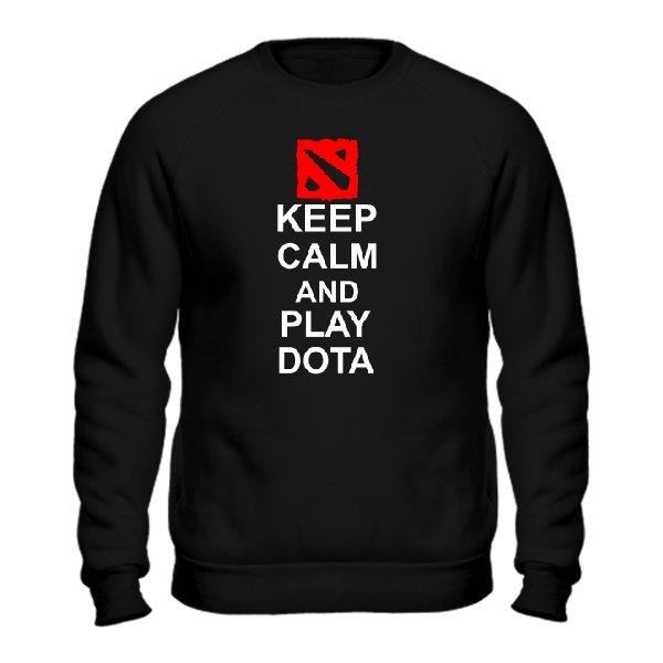 Мужской свитшот Keep Calm and Play Dota