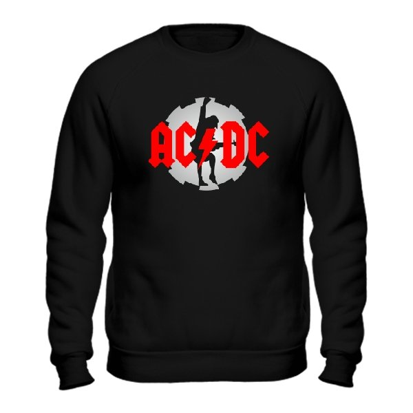Мужской свитшот с логотипом AC DC