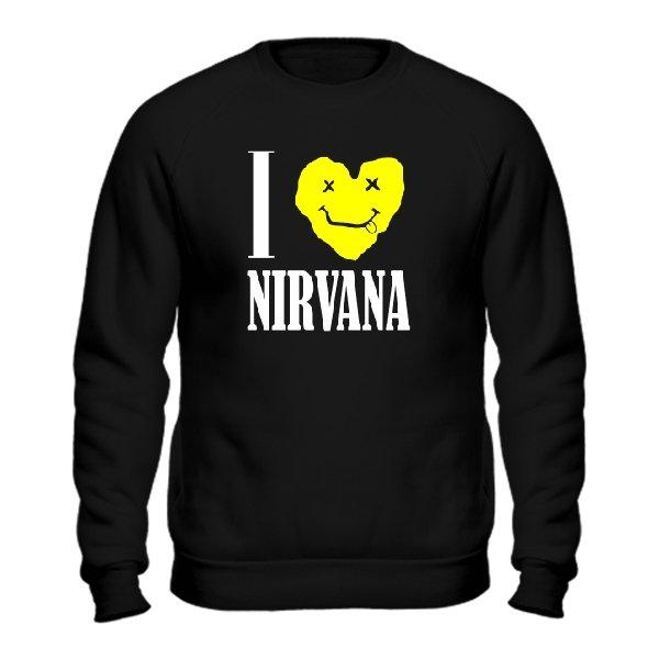 Мужской свитшот I Love Nirvana