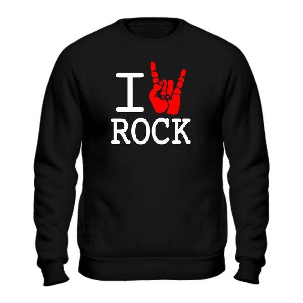 Мужской свитшот с надписью люблю Rock