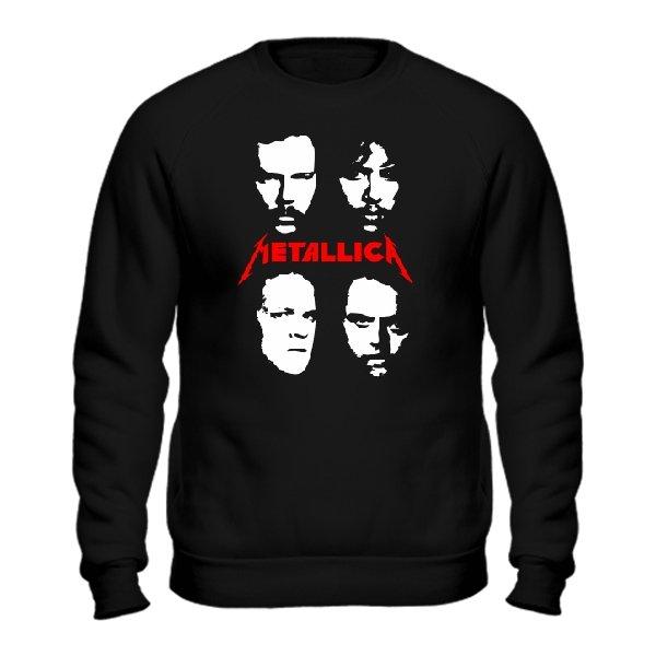 Мужской свитшот Metallica лица