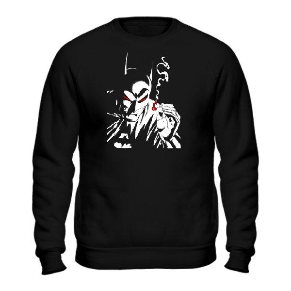 Мужской свитшот Курящий Бэтмен