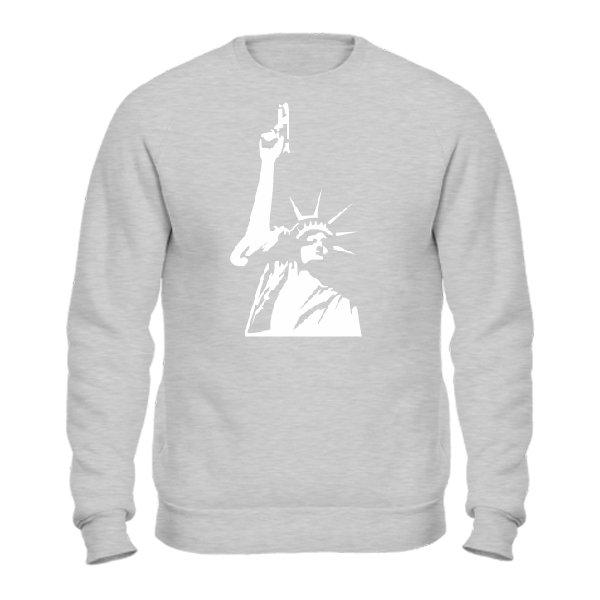 Мужской свитшот Статуя Свободы с Пистолетом