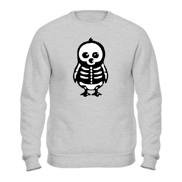 Мужской свитшот Скелет Пингвина