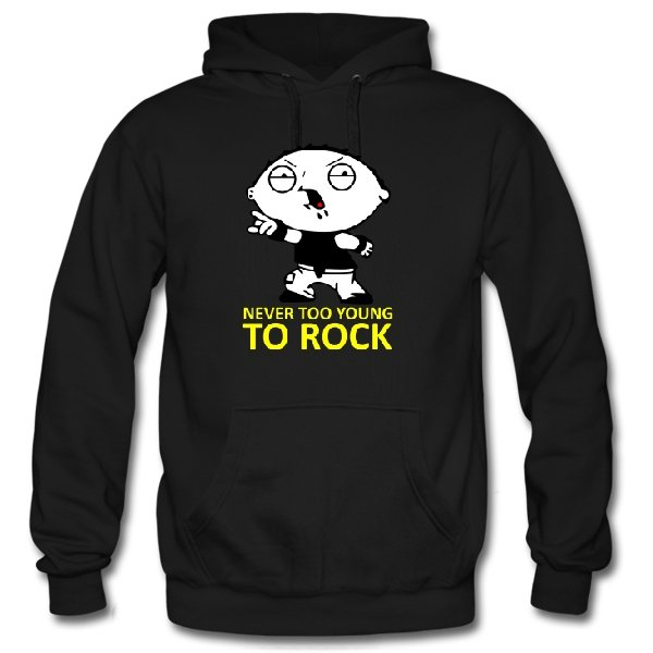 Толстовка Never too young to rock