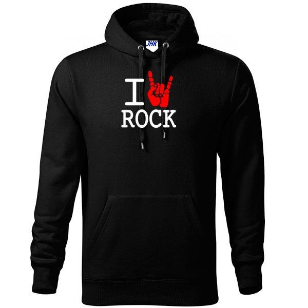Толстовка с надписью люблю Rock