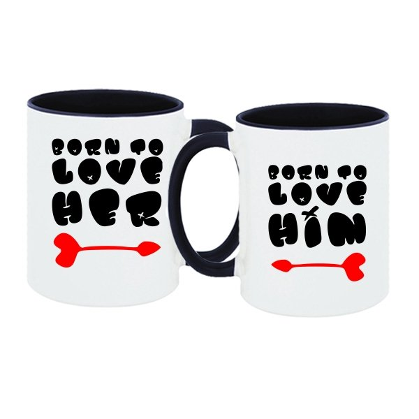 Парные чашки Born to love him her