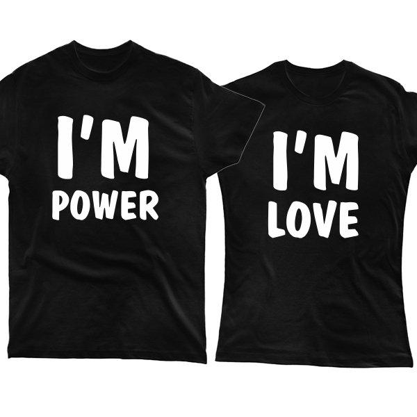 Парные футболки Энергия и Любовь