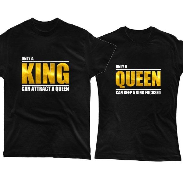 Парные футболки Только король и королева могут привлечь друг друга