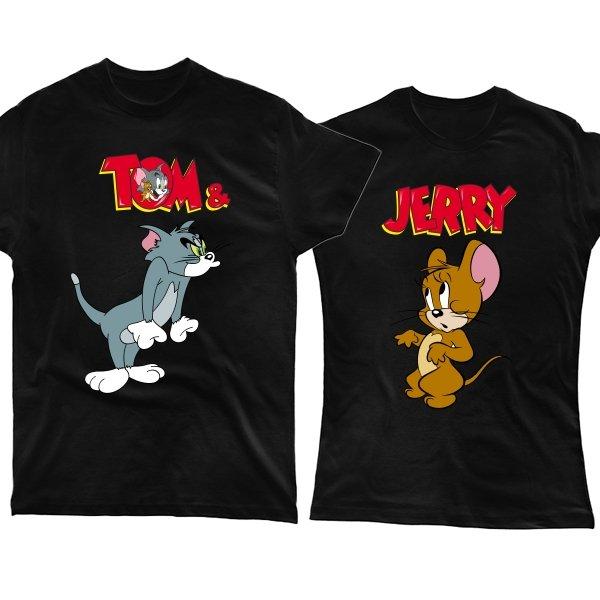 Парные футболки Том и Джерри