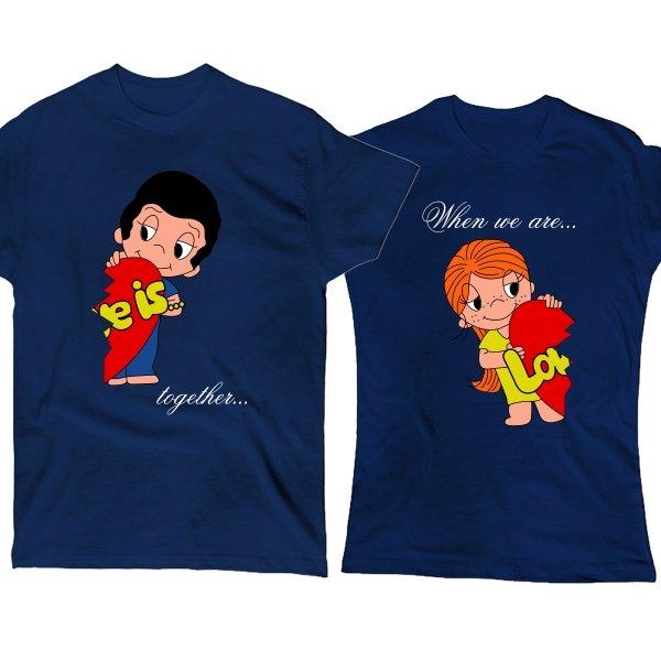 Парные футболки Когда мы Вместе