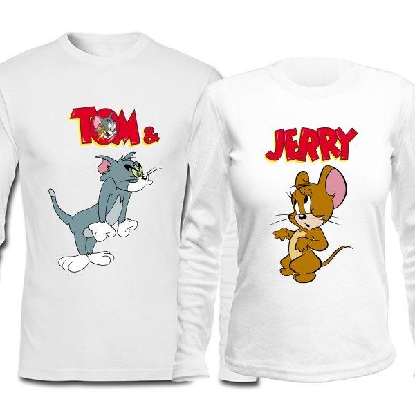 Парные лонгсливы Том и Джерри