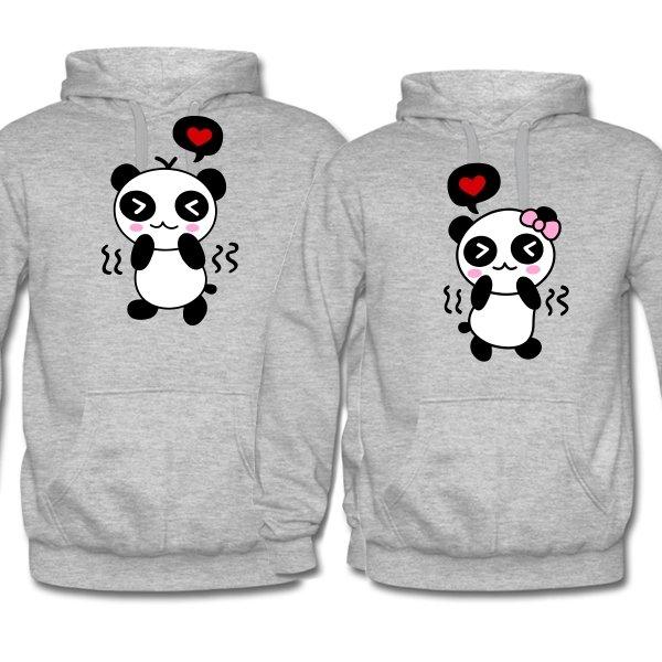 Парные толстовки Влюбленные Панды