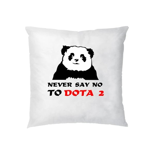 Подушка Never say no to Dota 2