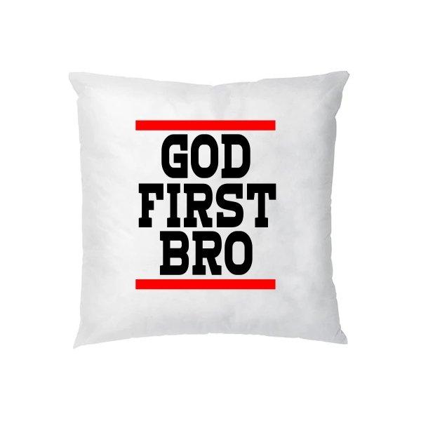 Подушка Сначала Бог