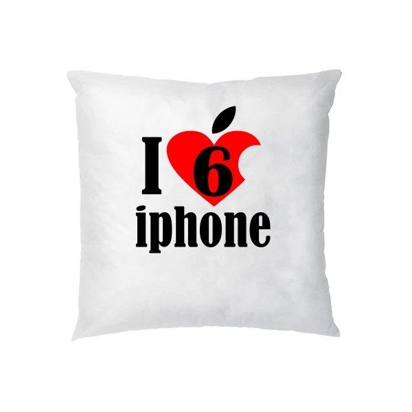 Подушка Люблю 6 Айфон