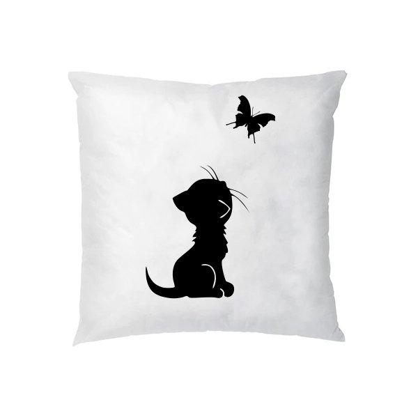 Подушка Кот и Бабочка