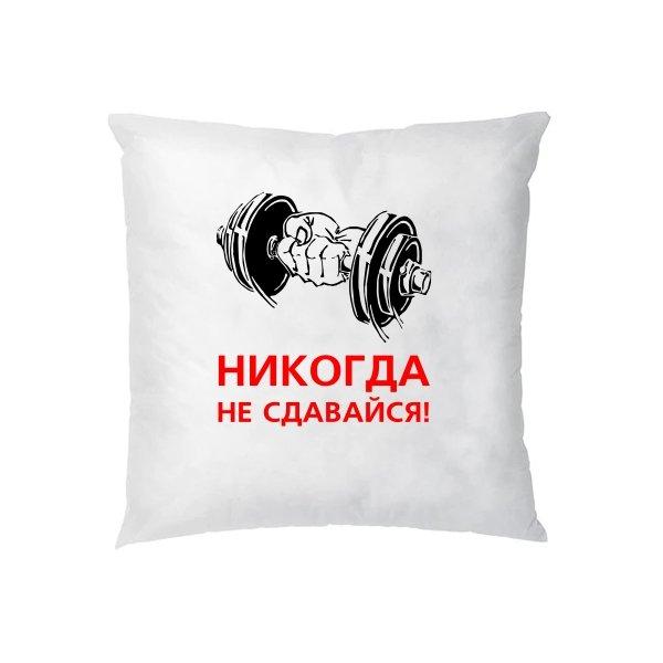 Подушка Никогда не сдавайся