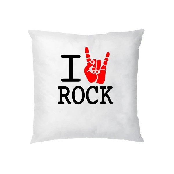 Подушка с надписью люблю Rock