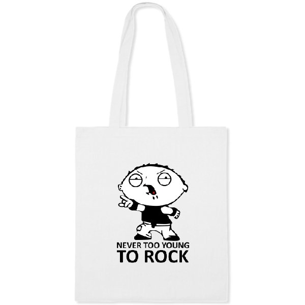 Сумка Never too young to rock
