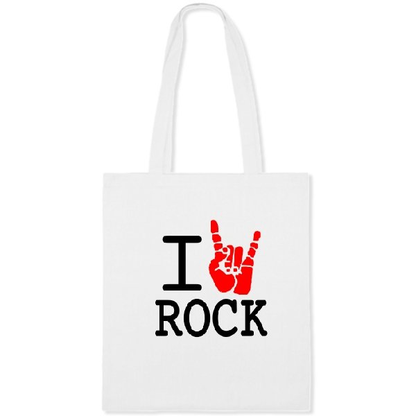 Сумка с надписью люблю Rock